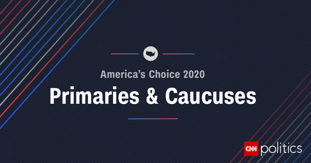 Image of: 2020 Primary And Caucus Results Map And Delegates